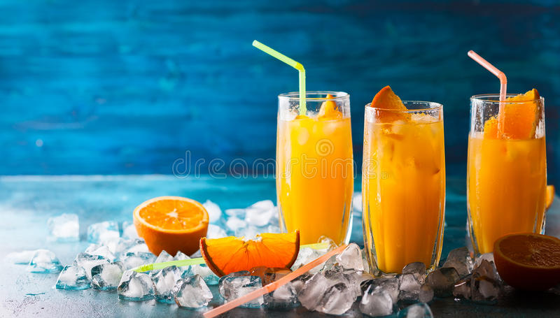 Orange drink arkivbild