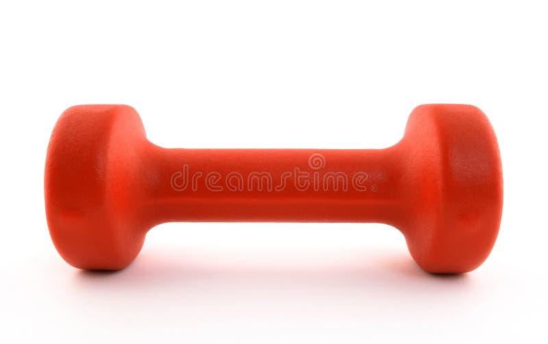Orange dumbbell stock photos