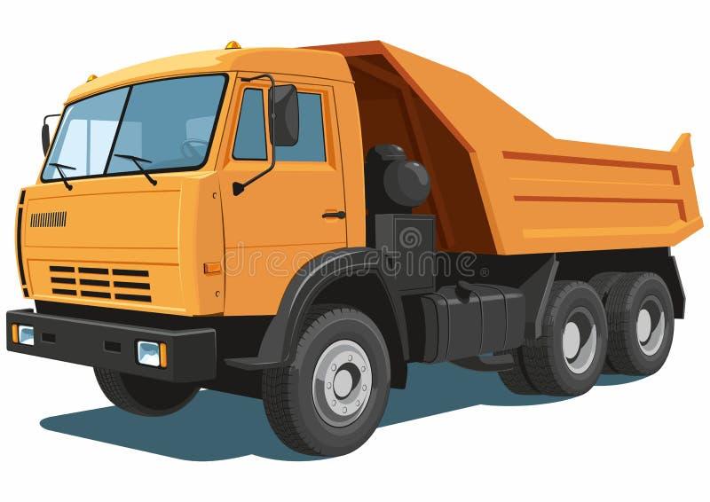 Orange dump truck royalty free stock photography