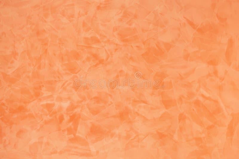 Orange Effekt gemalter Wandbeschaffenheitshintergrund stockbild