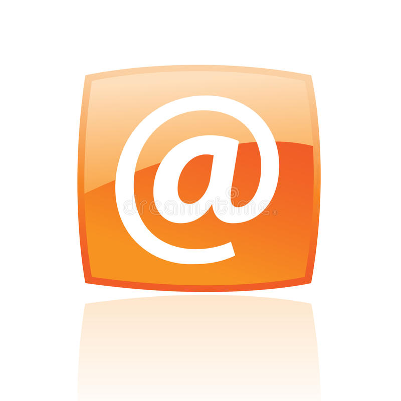 Orange email stock illustrationer