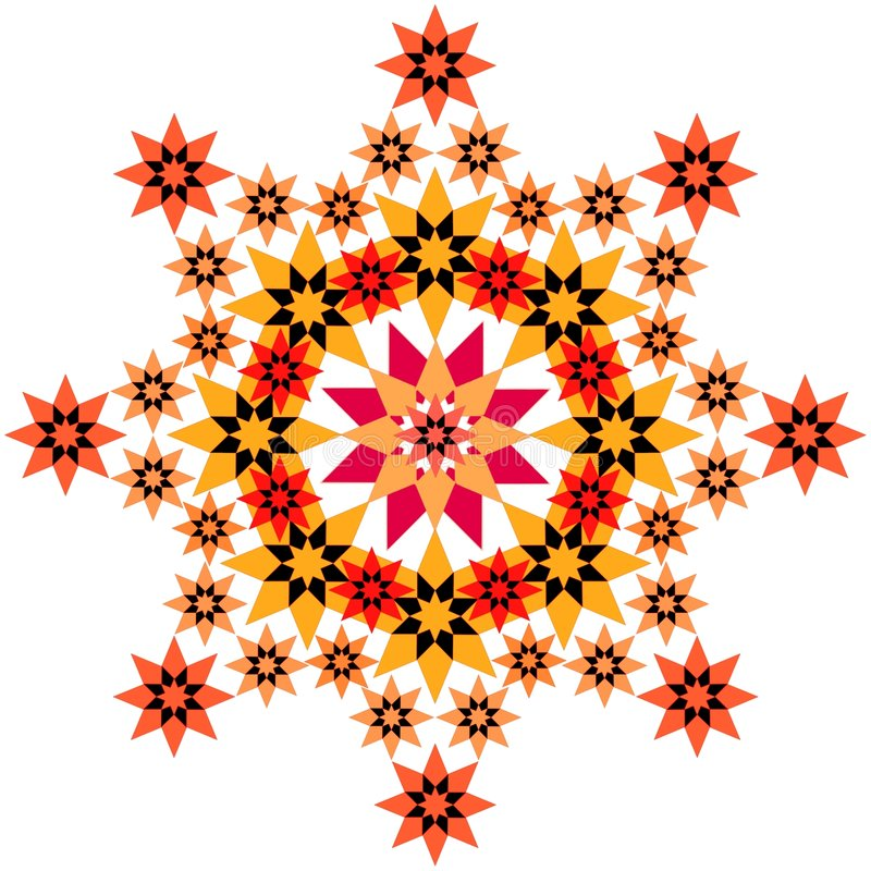 Orange en filigrane d'étoile illustration libre de droits