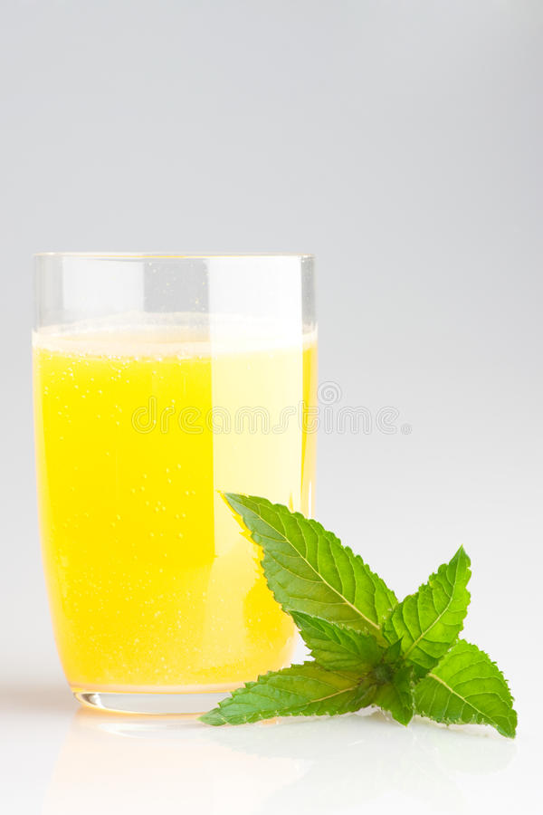orange en verre de jus photographie stock libre de droits
