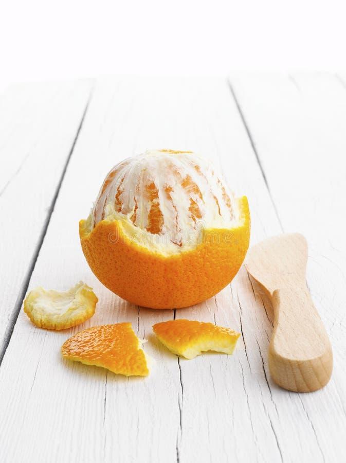 Orange enlevée photo libre de droits