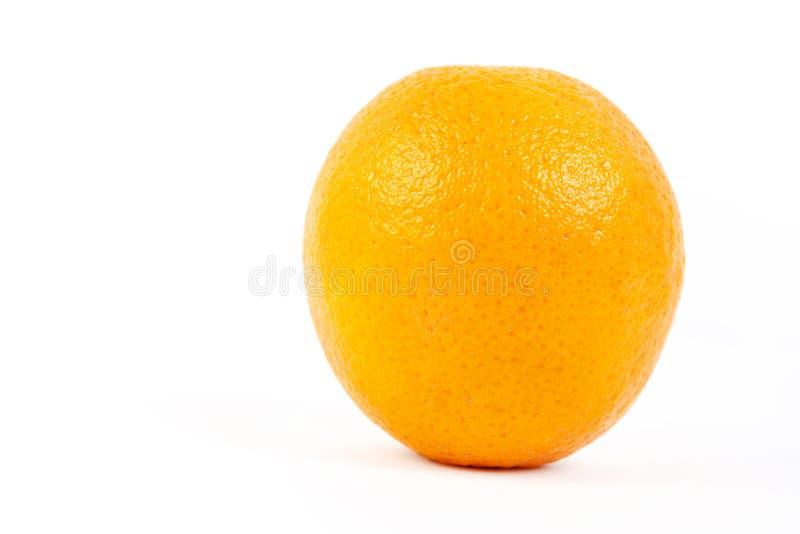 Orange entière d'isolement au-dessus du fond blanc avec l'espace de copie image stock