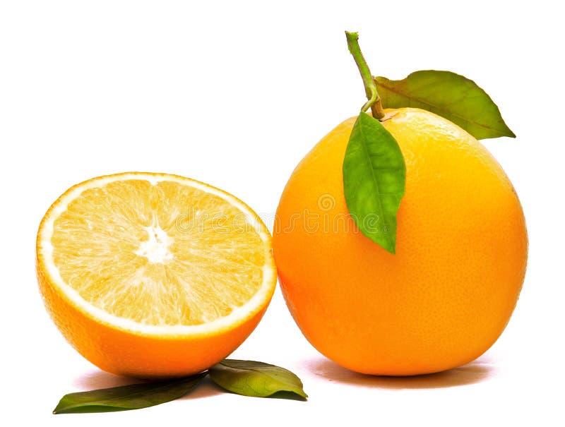 Orange et demi images libres de droits