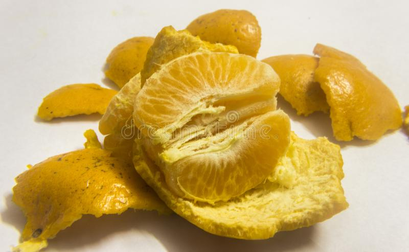 Orange et pulpes photo stock