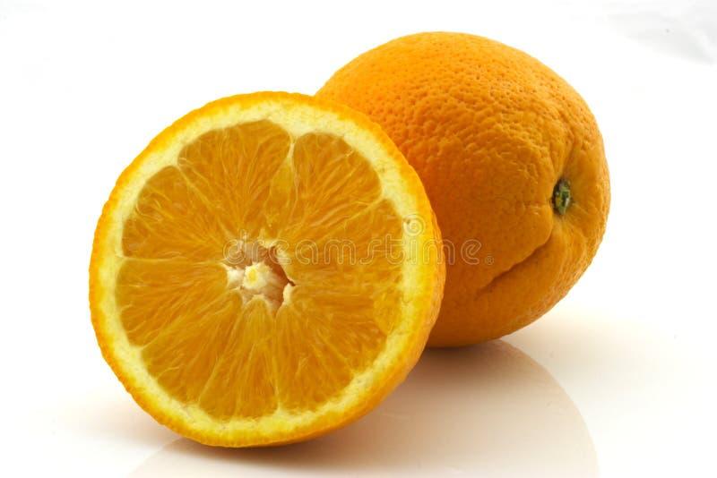 Orange et une moitié photo stock