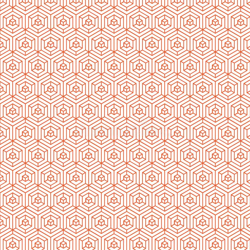 Orange färg Diamond Pattern Background Design stock illustrationer