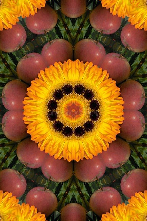 Download Orange För äpplegardeniamandala Stock Illustrationer - Illustration av petal, meditera: 290328
