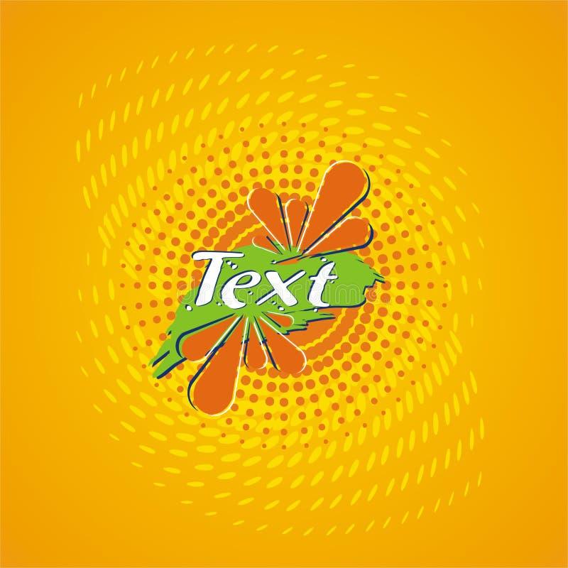 orange för designfruktsaftetikett stock illustrationer