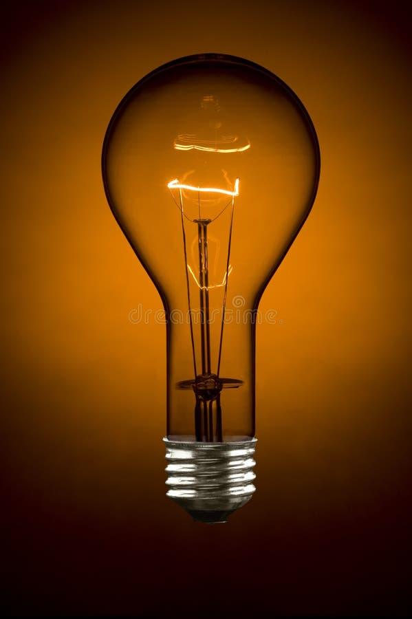 orange för lighting för kulalampa fotografering för bildbyråer