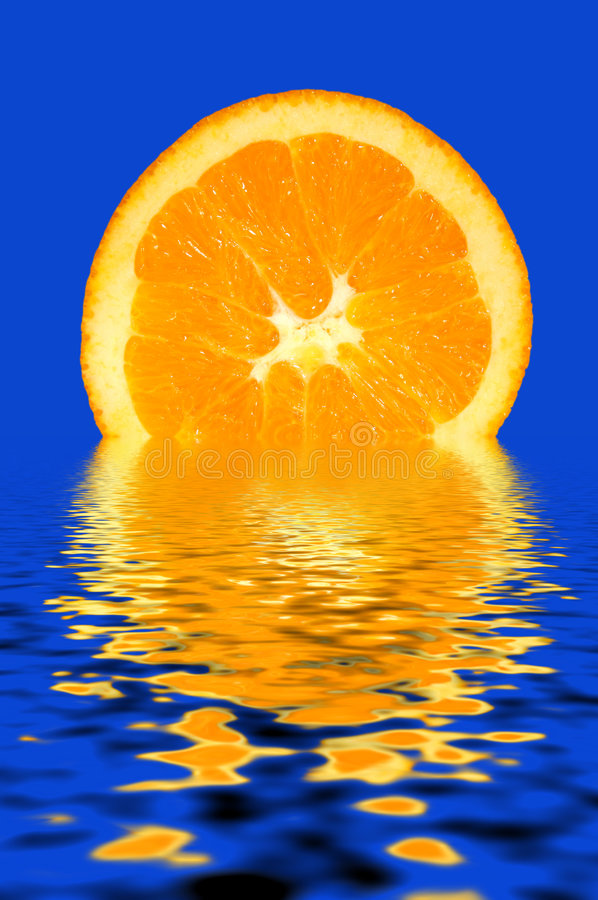 orange förnyande skiva royaltyfria bilder