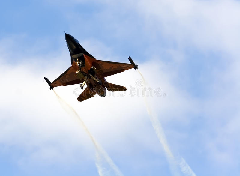 Download Orange F16 editorial stock photo. Image of dynamics, fighter - 20943848