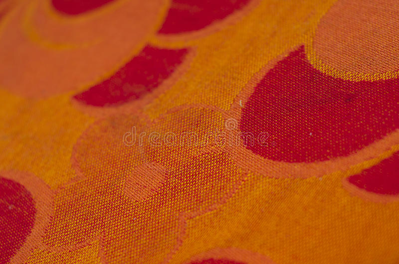 Orange Fabric. With red parts, nonfigurative abstract stock images