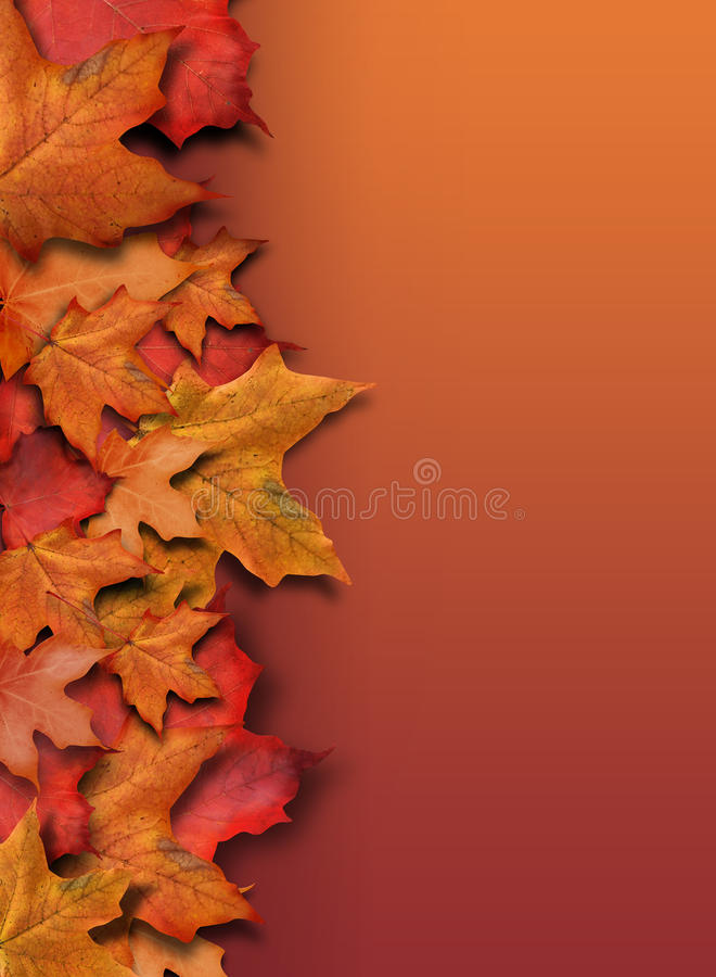 Orange Fall Background Border with Copyspace stock photos