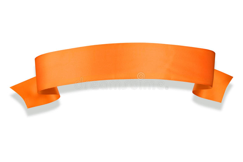 Orange Farbband-Fahne stock abbildung