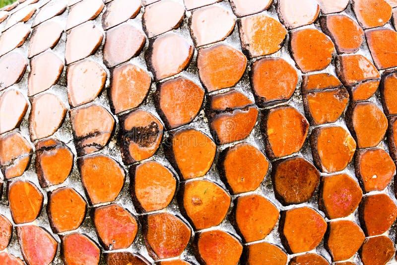 Orange Farbkeramisches Dachplattedetail lizenzfreie stockfotos