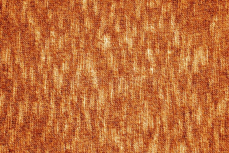 Orange Farbstrickende Beschaffenheit stockbilder