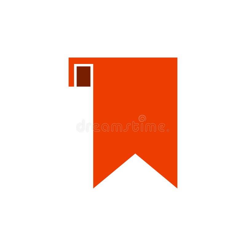 Orange fast färg för bokmärke och enkel design royaltyfri illustrationer