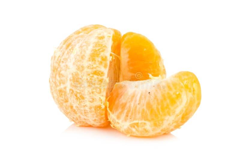 Orange faul schmutzig reif schale Getrennt auf weißem Hintergrund lizenzfreie stockbilder
