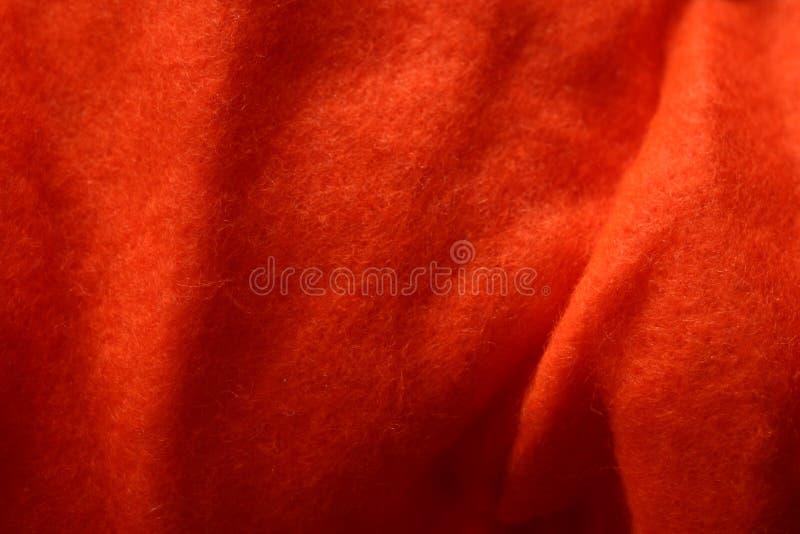Orange Felt Texture 1 royalty free stock photos
