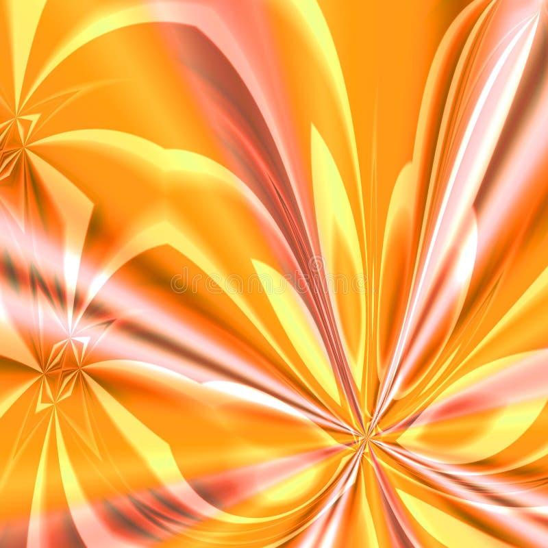 Orange Feuerwerk-Böe lizenzfreie abbildung