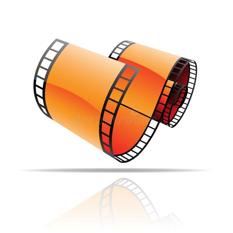 Orange film reel vector illustration