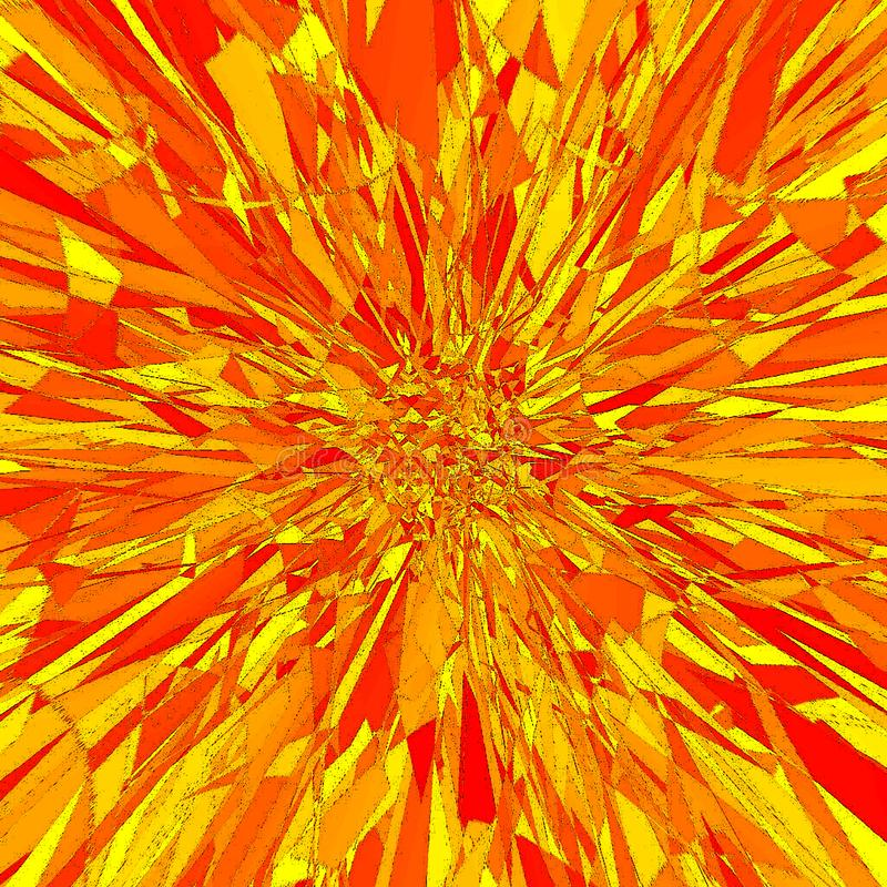 Orange fire explosion background with copy space for text stock illustration