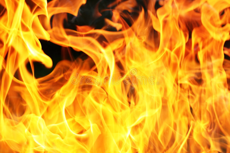 Orange fire flame stock photo