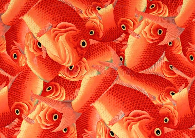 Orange Fish Decorative Art in Kyoto, Japan stock photography