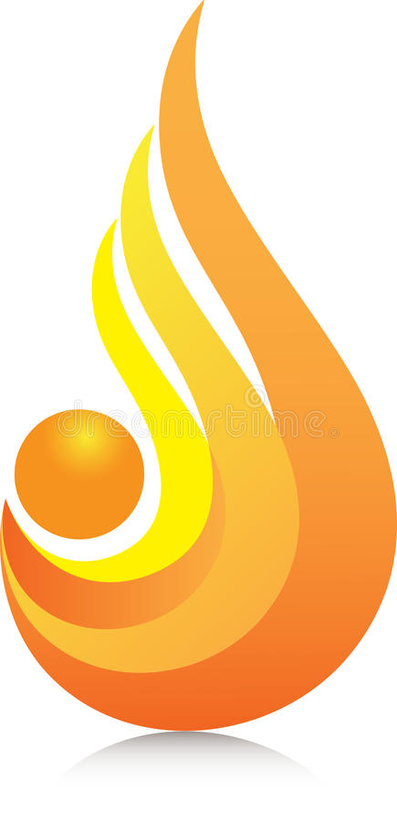 Orange Flame Stock Image