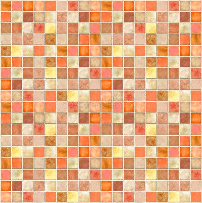 Orange Fliese-Mosaik stockbild