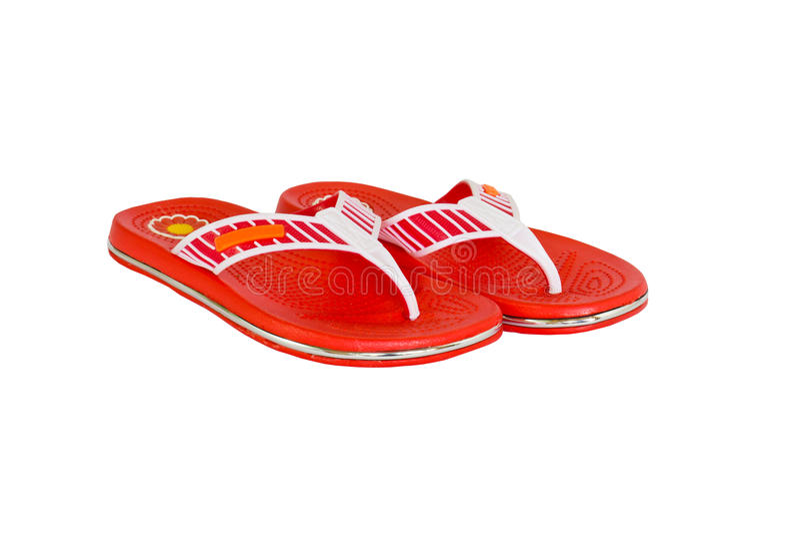 Orange flip-flops2. Orange flip-flops on a white background royalty free stock photography