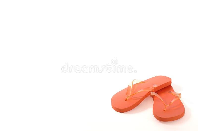 Orange Flipflops stockbild