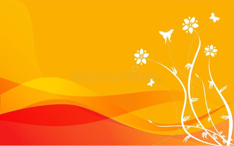 Download Orange Floral stock vector. Image of design, meadow, ornamental - 5250287