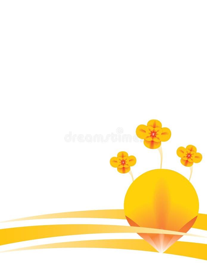 Orange floral background 1 stock illustration