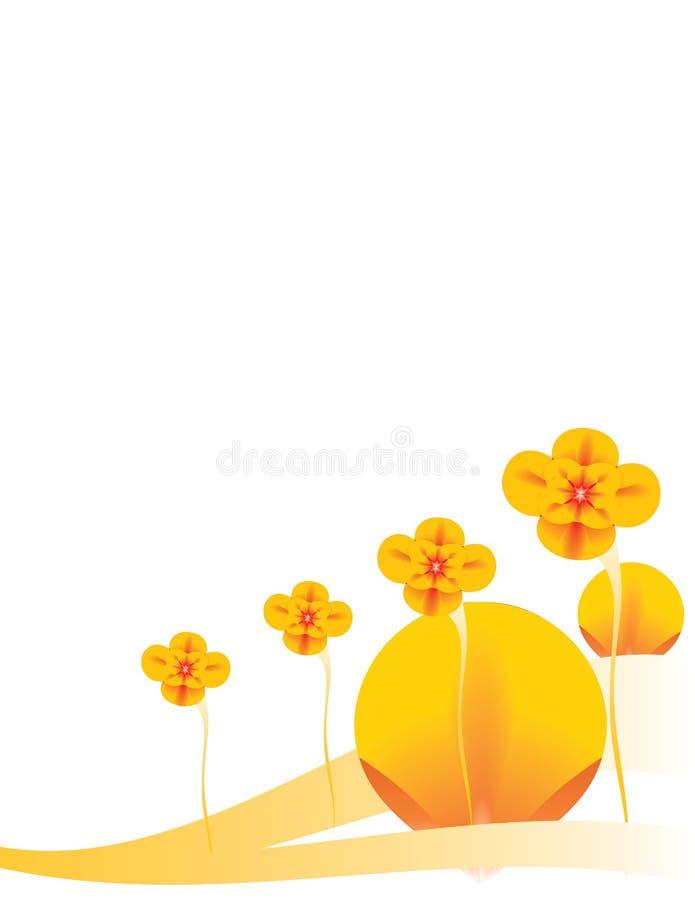 Orange floral background 4 vector illustration