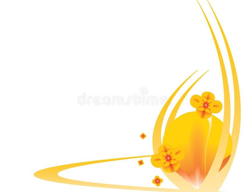 Orange floral background 5 stock illustration