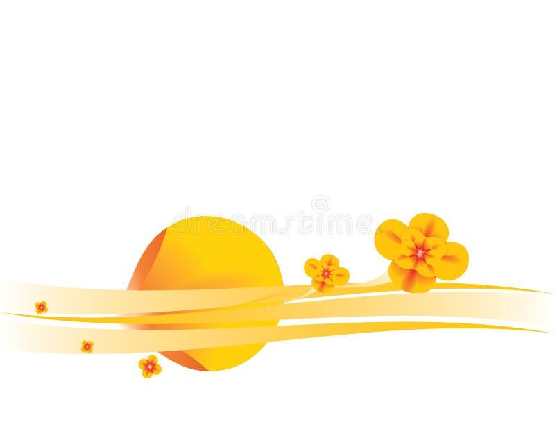 Orange floral background 6 royalty free illustration
