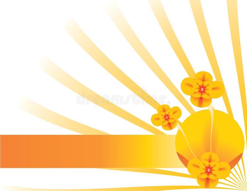 Orange floral background 7 royalty free illustration