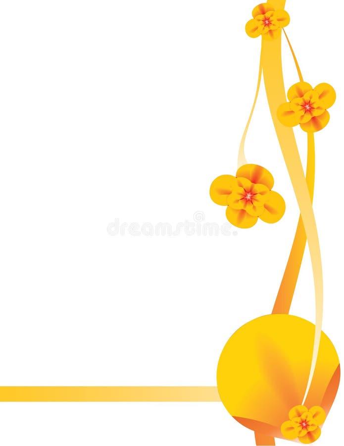 Orange floral background 8 vector illustration