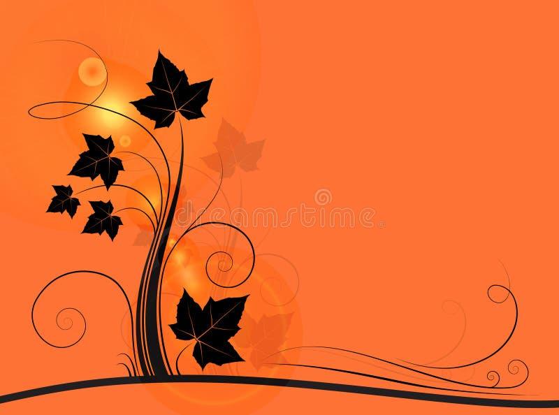 Orange floral background royalty free illustration