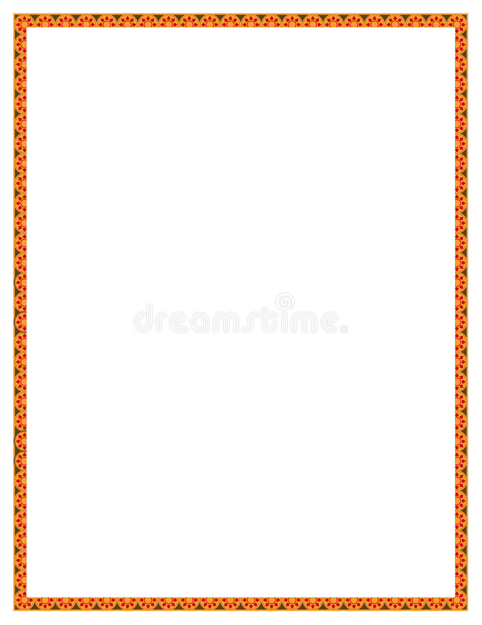 Orange Flower Border royalty free illustration
