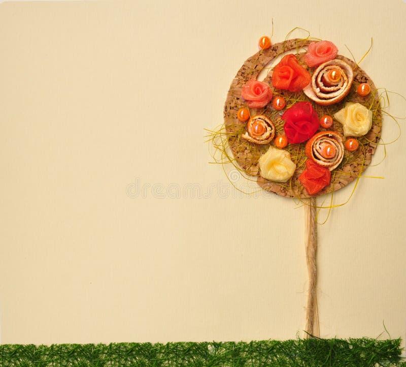 Free Orange Flower Tree Landscape Abstract. Royalty Free Stock Image - 24579986