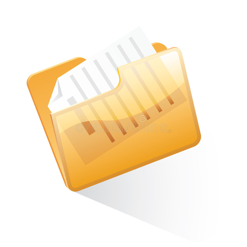 Orange folder vector illustration