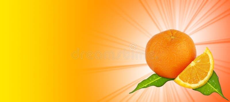 Orange - fond jaune-orange illustration libre de droits