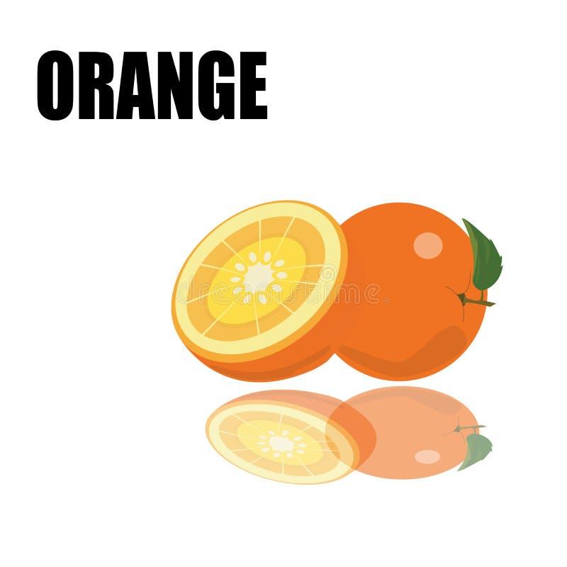 Orange with font stock illustration