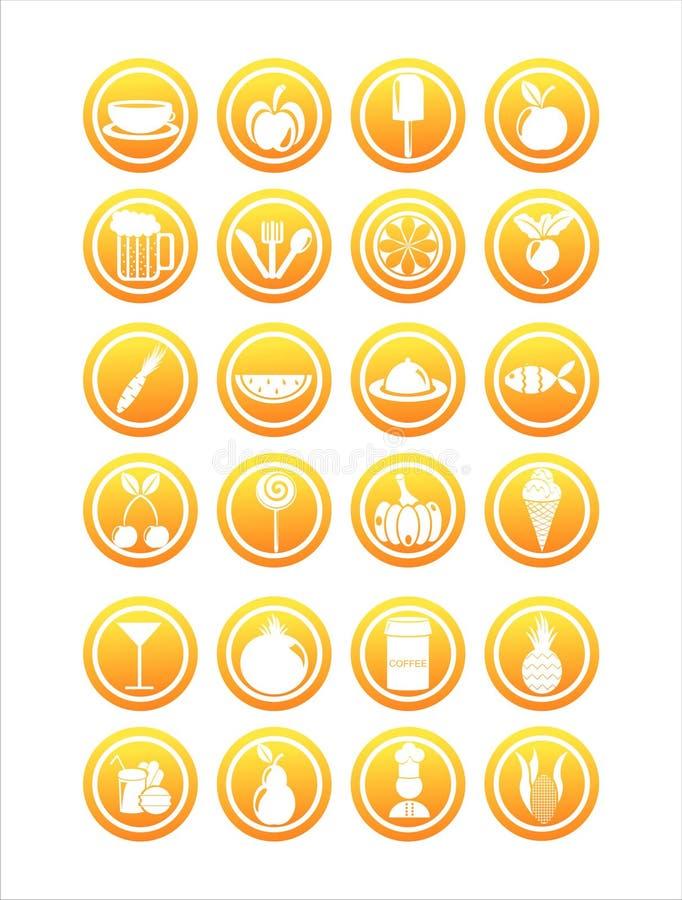 Download Orange food signs stock vector. Image of pineapple, orange - 19538152