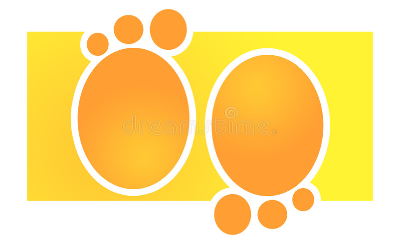 Download Orange Footprints stock illustration. Illustration of graphic - 4419226
